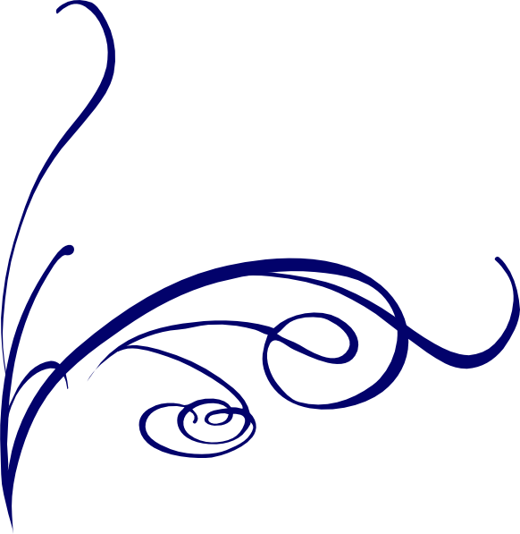 582x597 Fancy Lines Clipart Decorative Line Blue Png Transparent Images