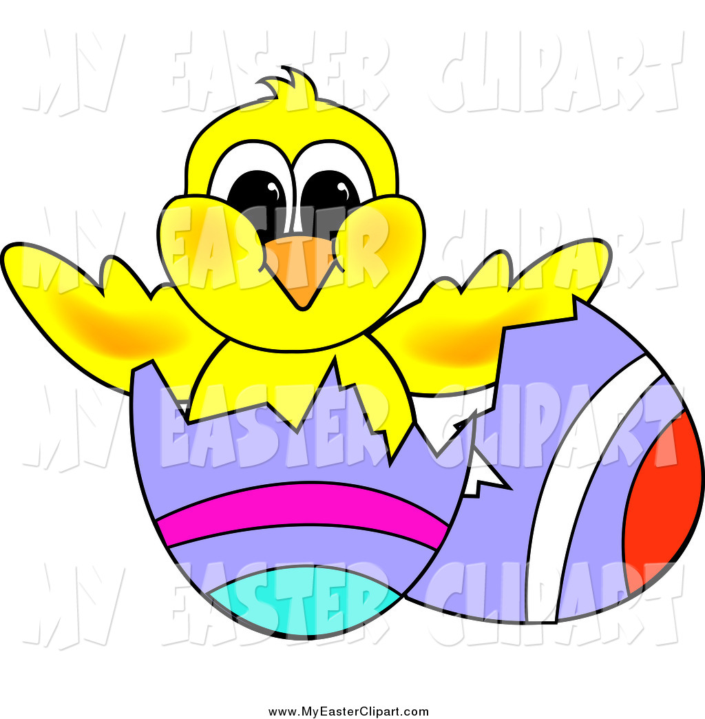 1024x1044 Clip Art Of A Yellow Hatching Chick In An Easter Egg With Painted