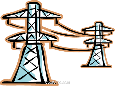 480x360 Hydro Lines Clipart