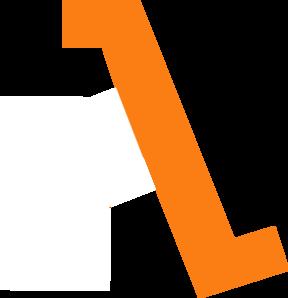 288x298 Orange Line Clip Art
