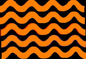 299x204 Orange Wave Lines Clip Art