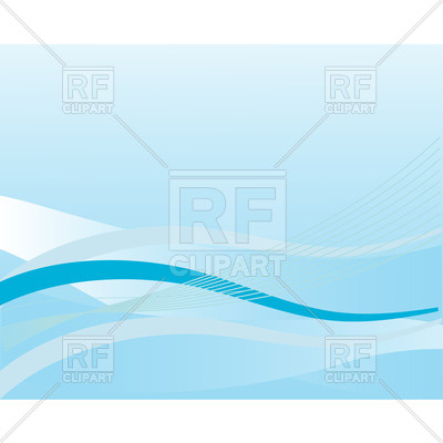 400x400 Abstract Blue Background With Wavy Lines Royalty Free Vector Clip