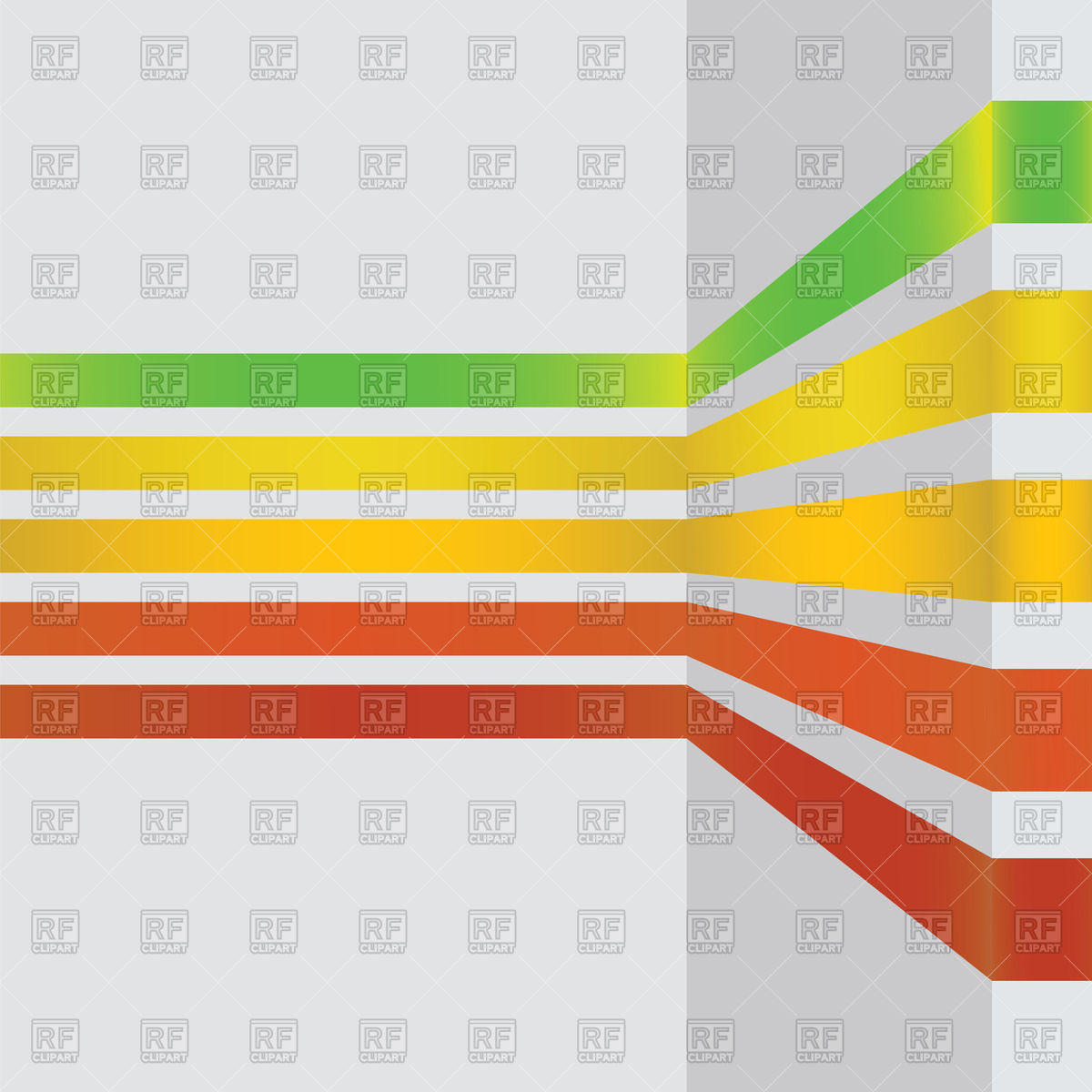 1200x1200 Bent Colored Lines On White Wall Royalty Free Vector Clip Art