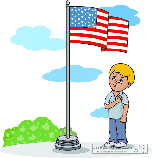529x550 American Flag Clipart Pledge Allegiance
