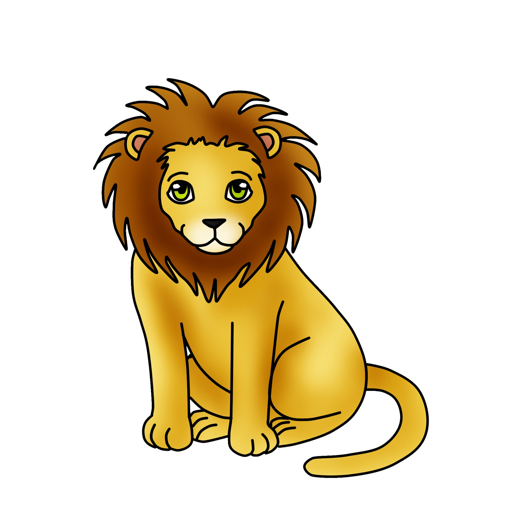 1800x1800 Head Of Aggressive Fire Lion Royalty Free Vector Clip Art Image