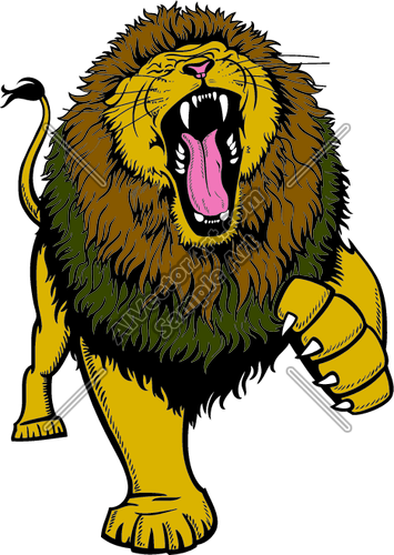 355x500 Roaring Lion Clipart Lion Roaring With Claw Up Clipart
