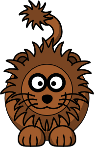 192x299 Cartoon Lion Clip Art Free Vector 4vector