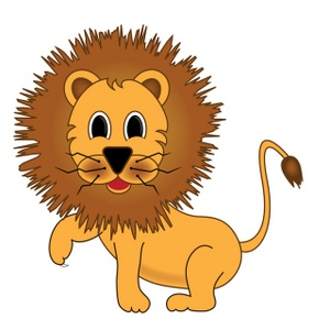 300x300 Lions Club Cartoon Clipart