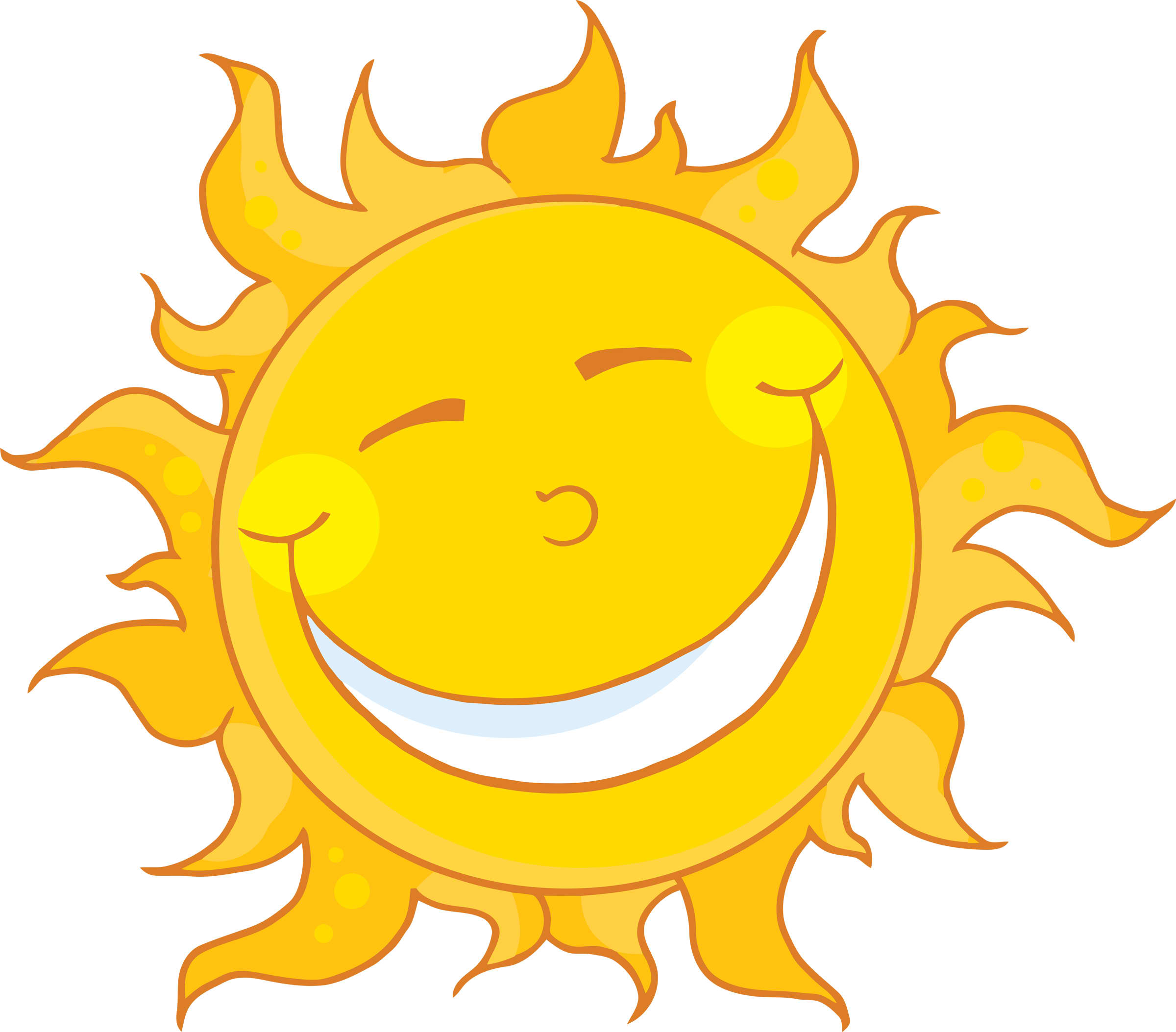 2400x2107 Smiling Sun Clipart Collection