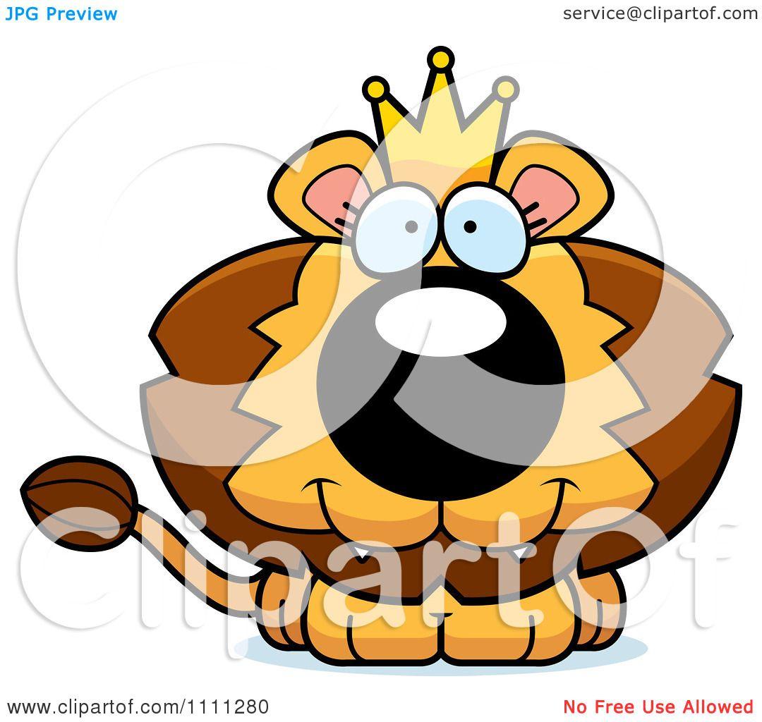 1080x1024 Clipart Cute Happy King Lion Cub
