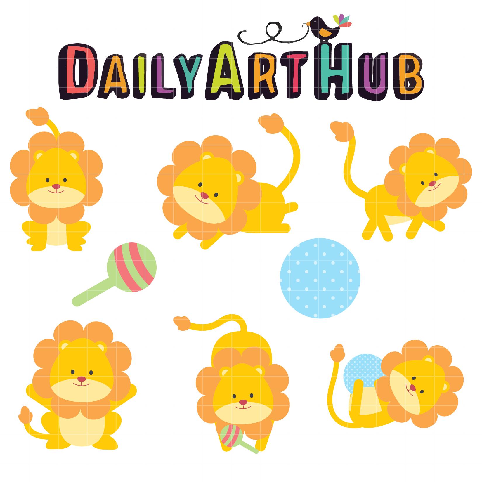 1650x1650 Cute Lion Cubs Clip Art Set Daily Art Hub Free Clip Art Everyday