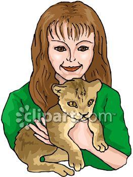 263x350 Girl Holding A Lion Cub