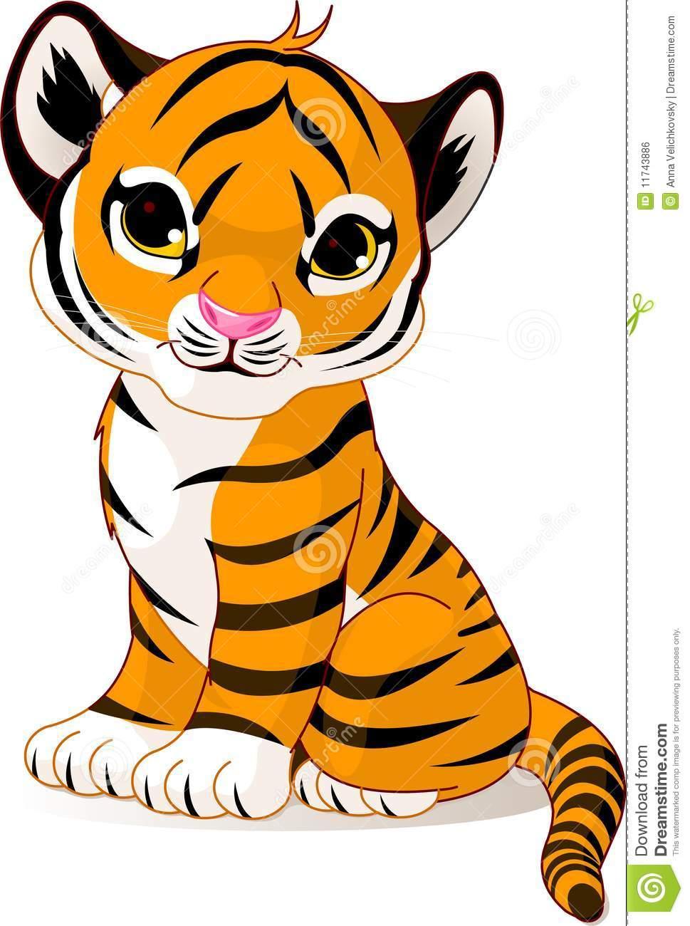 969x1300 Cute Tiger Clipart Clipartlook