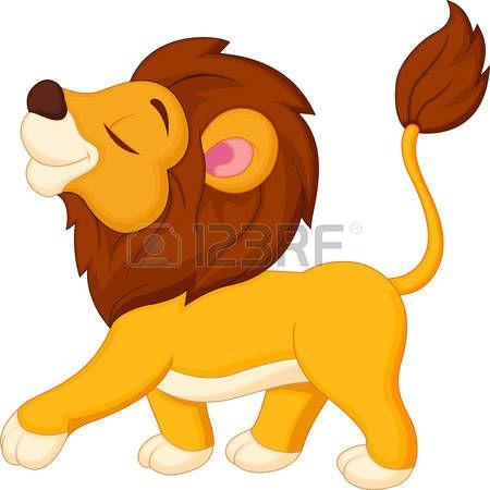 450x450 Lion Cartoon Walking Art