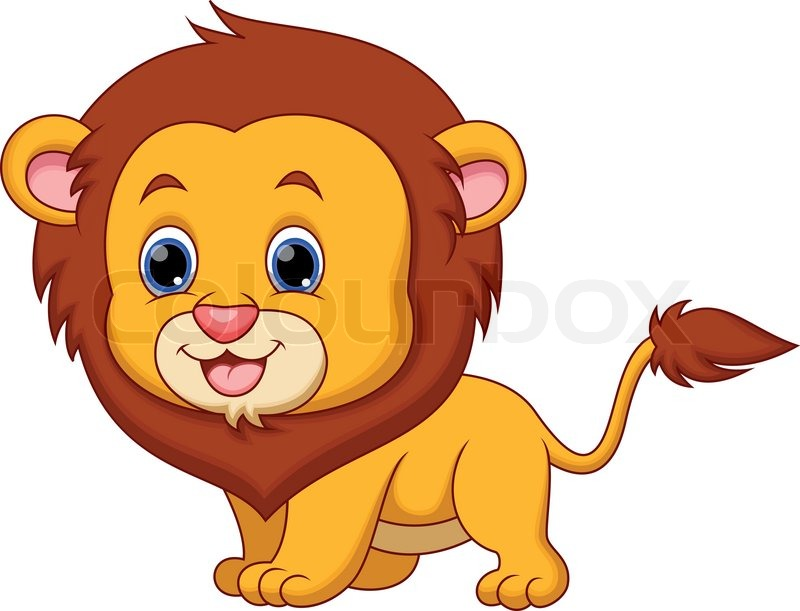 800x611 A Cartoon Picture Of A Lion Group