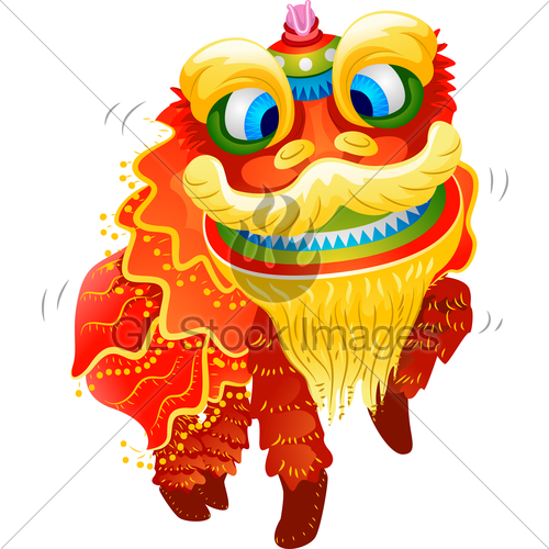 500x500 Chinese New Year Lion Dance Costume Gl Stock Images