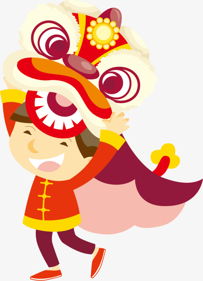 650x902 Vector Lion Dance, Lion Dance, Play, Vector Png And Vector