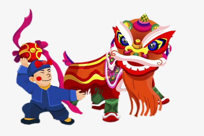 650x434 Cartoon Lion Dance Festivals Elements, Lion, Lion Dance Festival