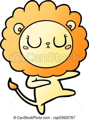 349x470 Cartoon Lion Dancing Clip Art Vector