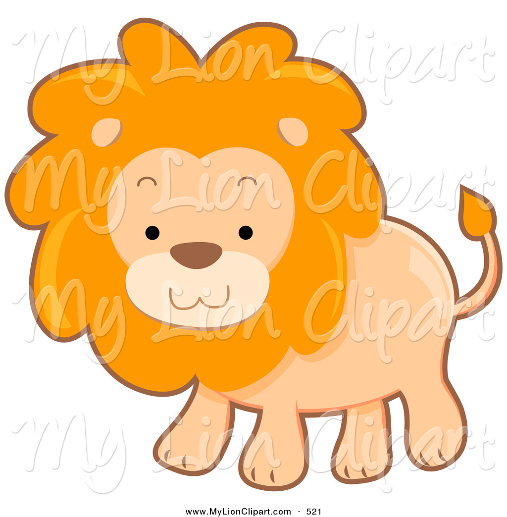 1024x1044 Clipart Of A Cute Brown Lion With A Fluffy Mane By Bnp Design