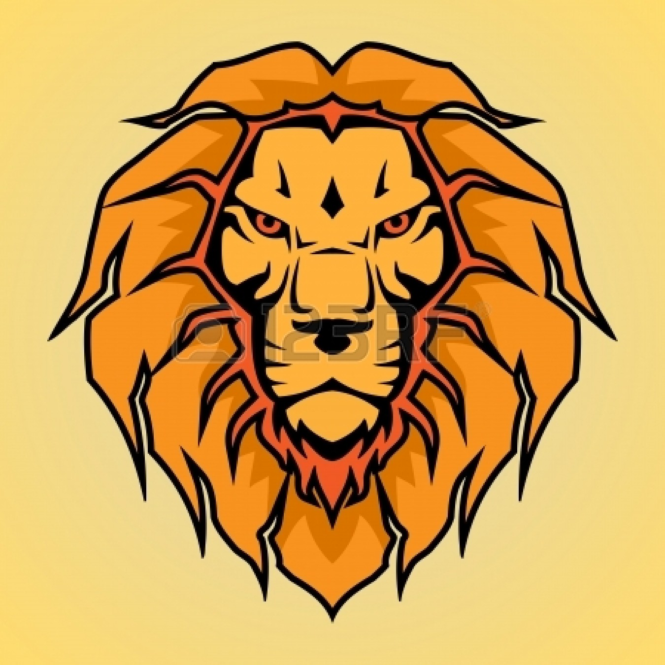 1350x1350 Lion Head Clip Art