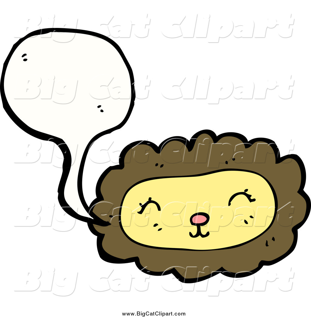 1024x1044 Big Cat Cartoon Vector Clipart Of A Talking Lion Face By