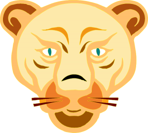 300x270 Cartoon Lion Face Lion Face Cartoon Clip Art
