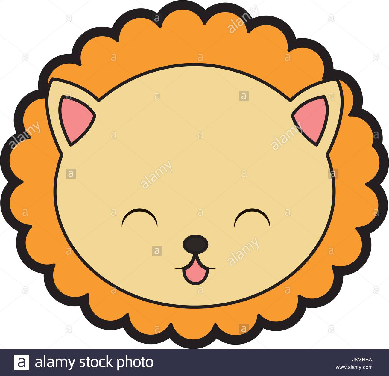 1300x1255 Cute Lion Face Cartoon Stock Vector Art Amp Illustration, Vector