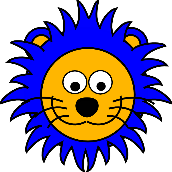 600x600 Cartoon Lion Face Clip Art Clipart Panda