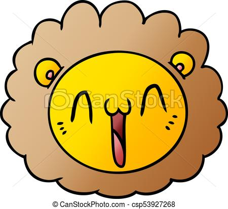 450x413 Cartoon Lion Face Clip Art Vector