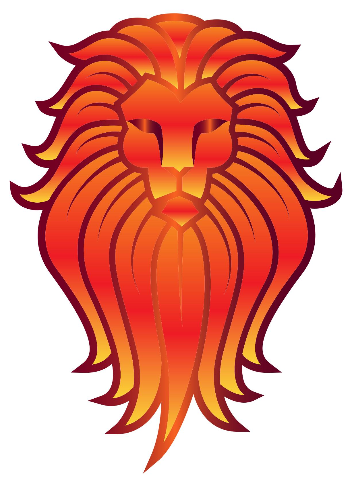 1226x1692 Chromatic Lion Face Tattoo 5 No Background Clipart