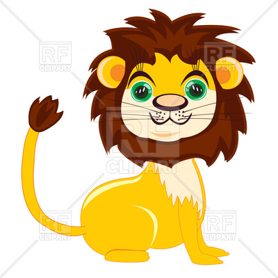 400x400 Cute Cartoon Lion Royalty Free Vector Clip Art Image