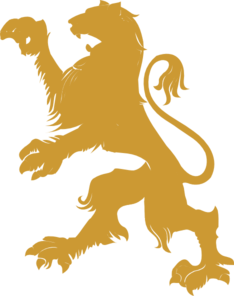 234x296 Gold Lion Clip Art