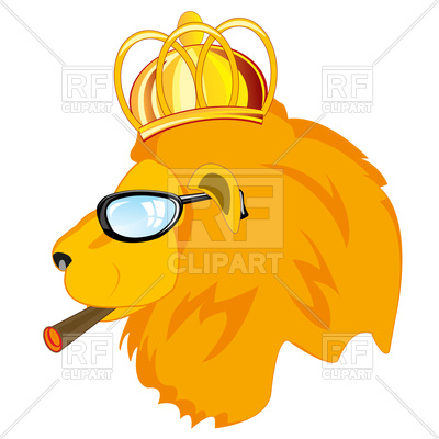 400x400 Head Of Lion In Crown Royalty Free Vector Clip Art Image