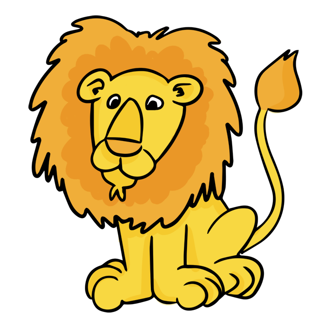 664x668 Cartoon Male Lion Clip Art Cheryl's Clipart Clip