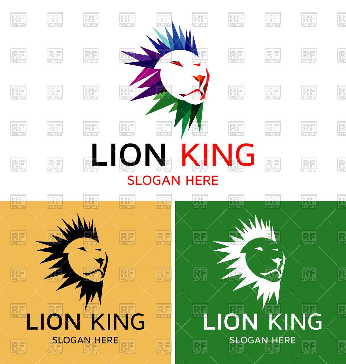 1143x1200 Lion King Emblem Royalty Free Vector Clip Art Image