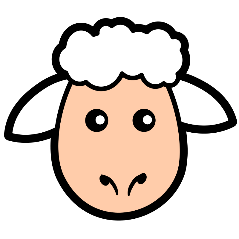 800x800 Free Clipart Sheep Icon Animals Spring Clip Art