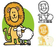 191x160 Lion And Lamb Clipart