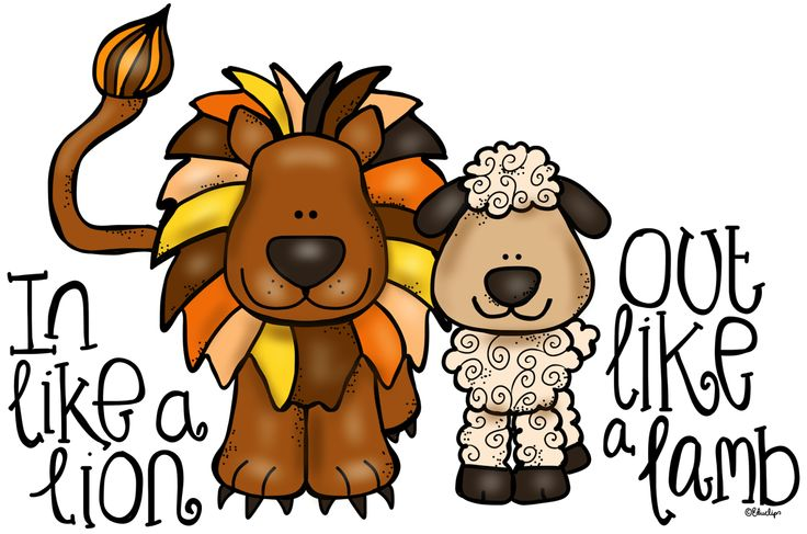 736x487 March Lion And Lamb Clip Art Image 9