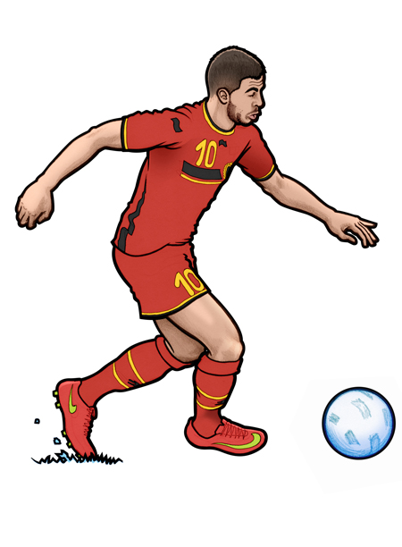 450x612 451 Illustration Of Belgium And Chelsea Fc Football Player