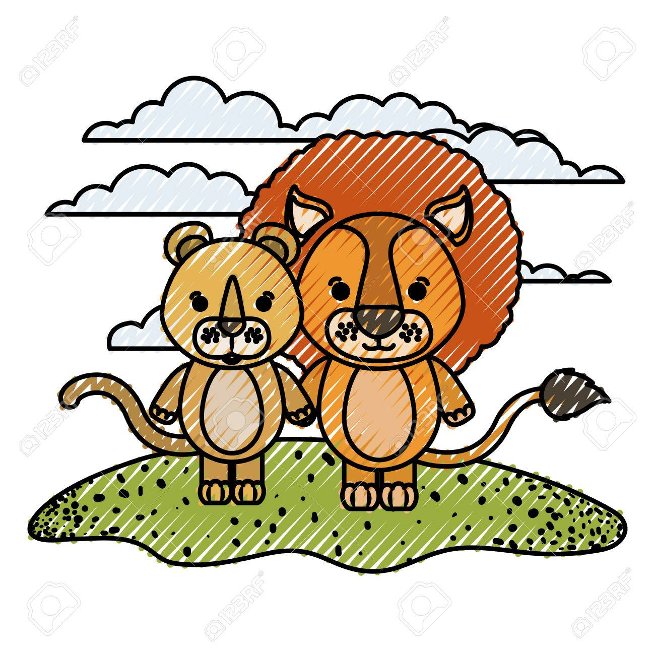 1300x1300 Collection Of Lion And Lioness Clipart High Quality, Free