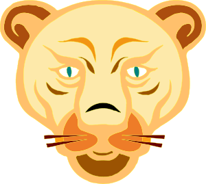 300x269 Lion Face Cartoon Clip Art