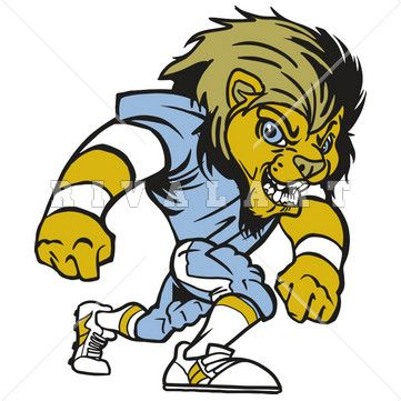 361x361 Mascot Clipart Image Of Football Lions Mascot Color Player Graphic