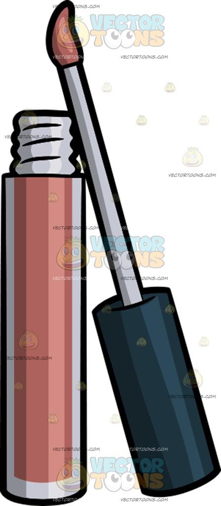 448x1024 A Lip Gloss Cartoon Clipart Vector Toons