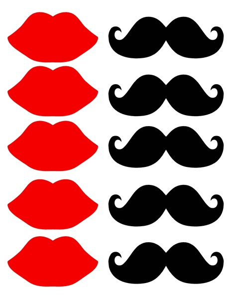 464x600 Lips Lip And Mustache Printables Clipart