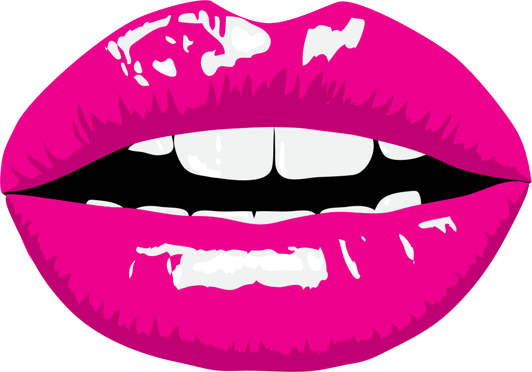 1067x747 Pink Lips Clipart Clipartxtras