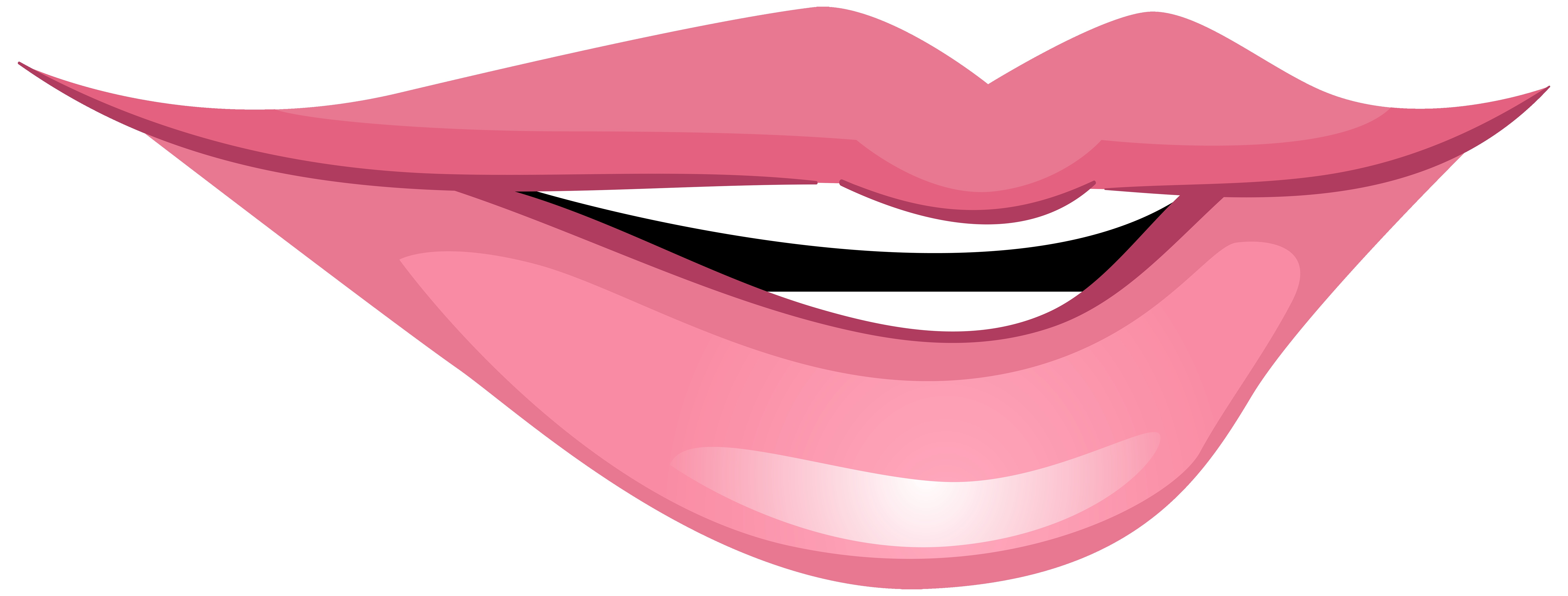 8000x3040 Lips With Red Lipstick Free Clip Art Showy Pink Lip