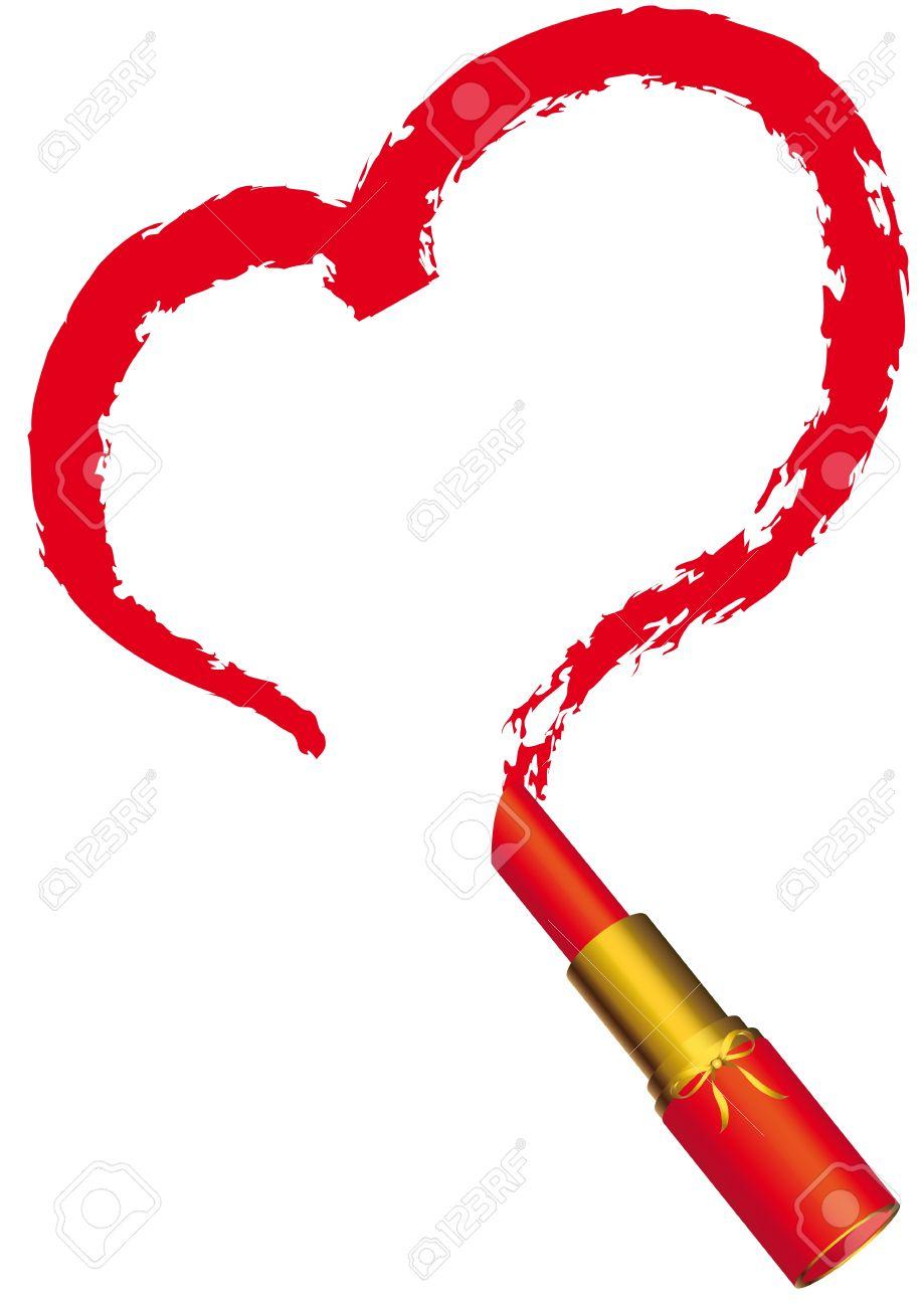 919x1300 Lipstick Clipart Heart