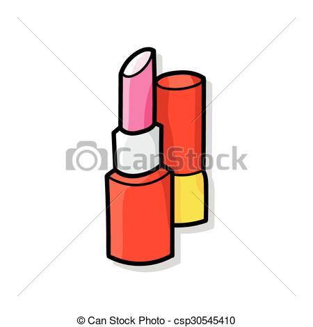 450x470 Lipstick Doodle Vector Clip Art