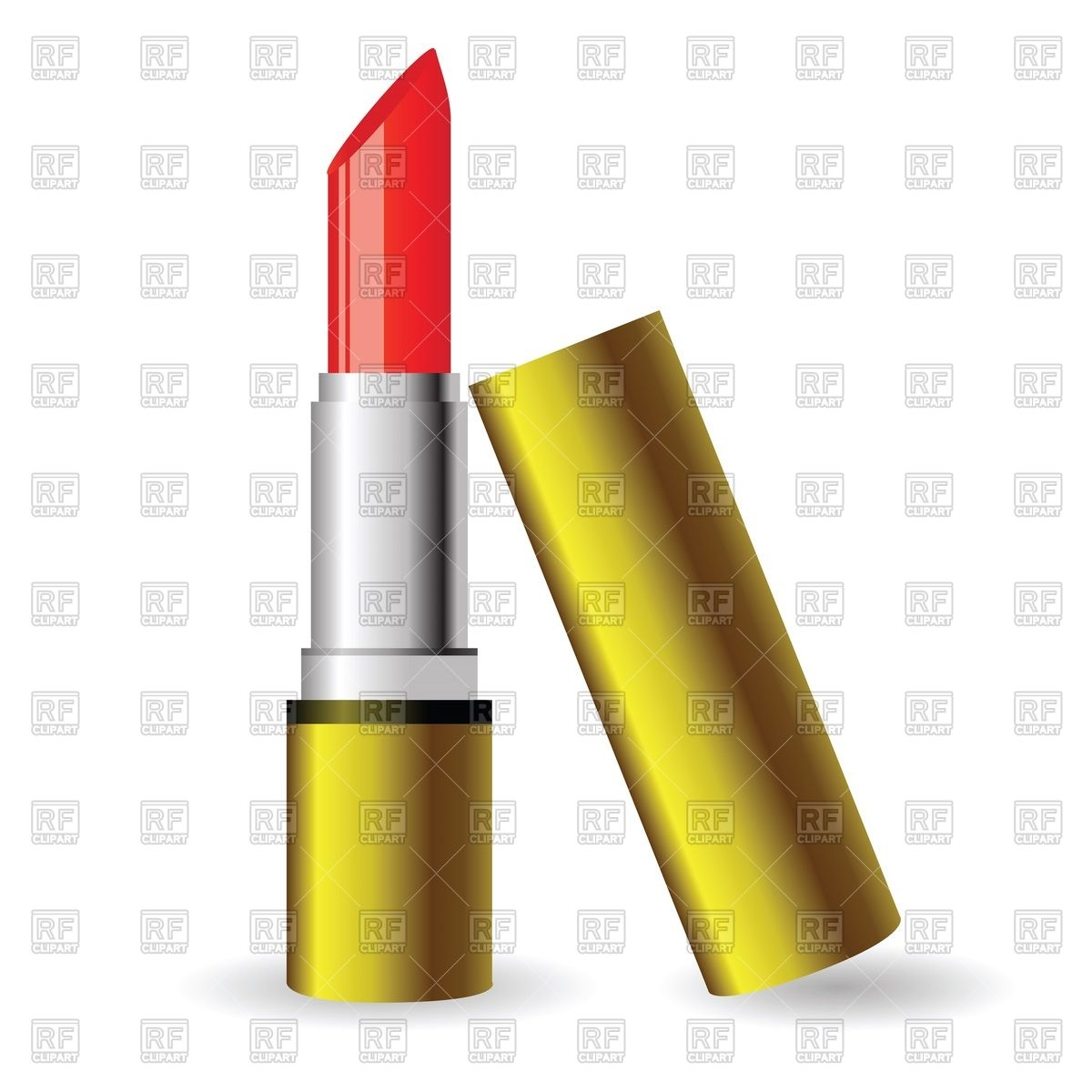 1200x1200 Open Red Lipstick Royalty Free Vector Clip Art Image